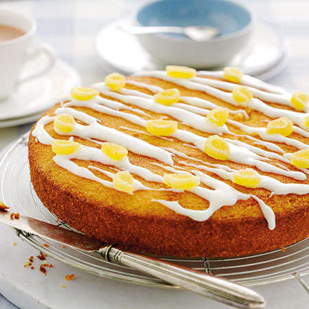 lemon almond polenta cake this moist cake is made with ground almonds ...